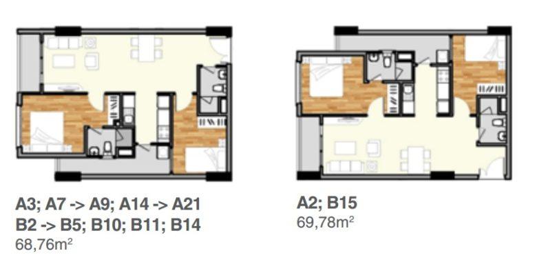 Nhà mẫu căn hộ 2 phòng ngủ lavita garden thủ đức
