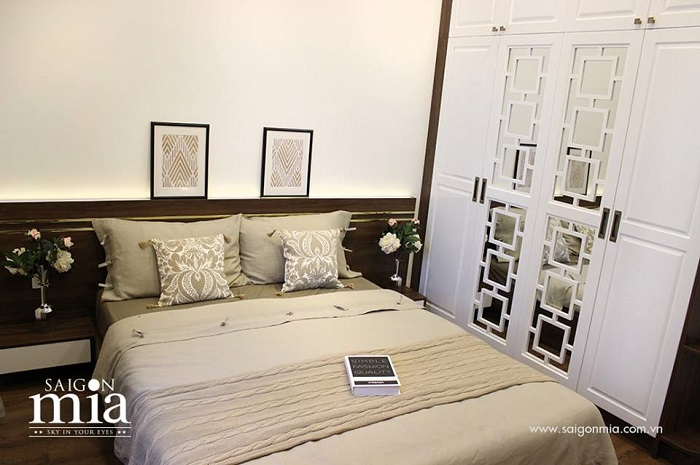 phòng ngủ căn hộ Saigon mia