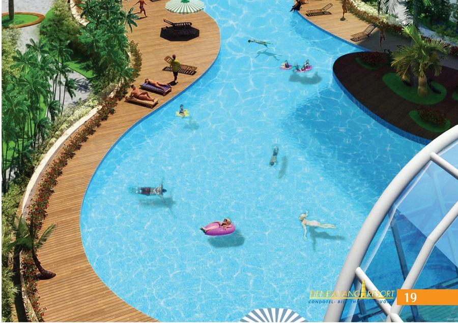 Hồ bơi tại khu nghĩ dưỡng Biển đá vàng Phan Thiết