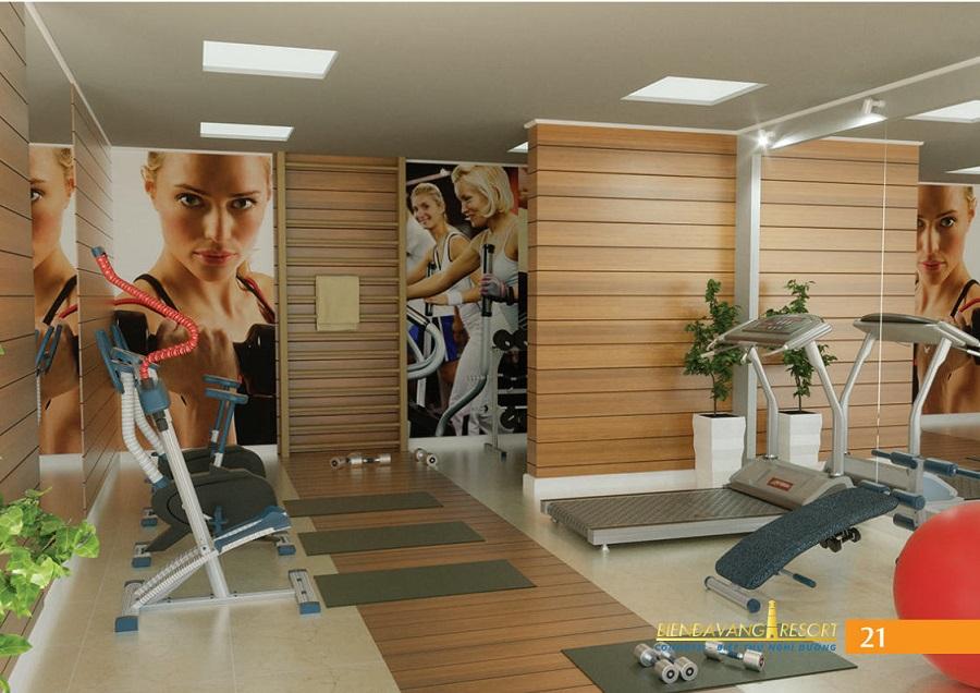Phòng Gym tại condotel bãi đá vàng phan thiết