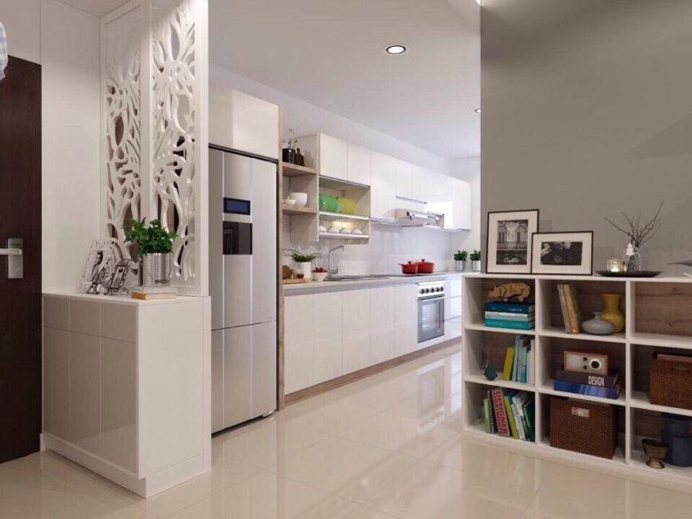 Không gian bếp căn hộ Moonlight residences đặng văn bi
